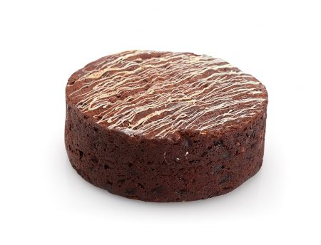 Round Chocolate Fruit Cake