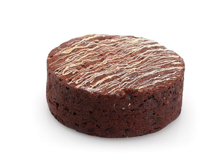 Round Chocolate Fruit Cake